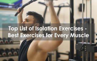 list of isolation exercises