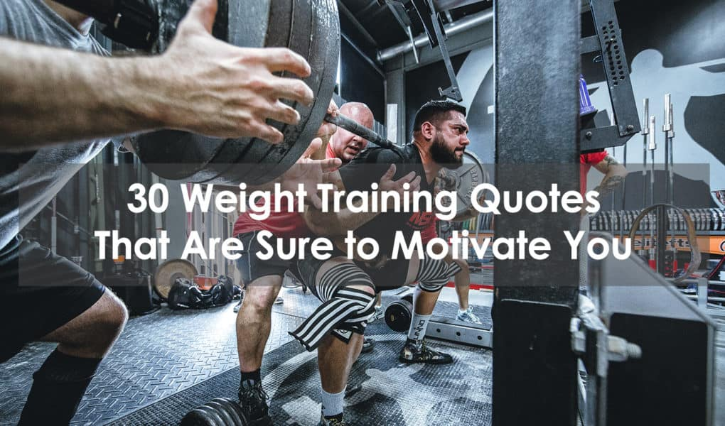weight training quotes